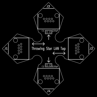 Throwing Star LAN Tap assembly diagram